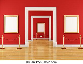 muzeum, czerwony