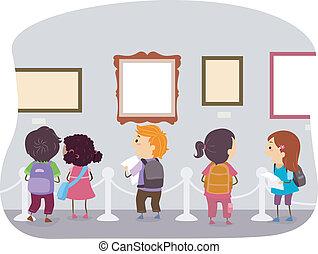 muzeum, dzieciaki, sztuka