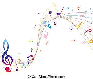 muzyczny notatnik, multicolour