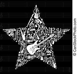 muzyka, gwiazda, tło
