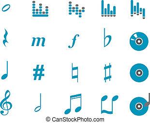 muzyka, ikona, komplet