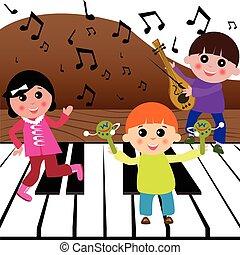 muzyka, interpretacja, dzieciaki