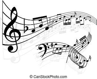 muzyka notatnik, tło