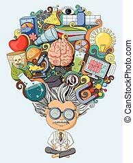 myśl, naukowiec, sen