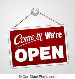 my, otwarty znaczą