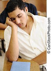 naście, spanie, czas, kolegium student, wykład