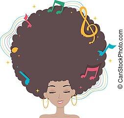 naście, włosy, dziewczyna, muzyka