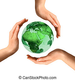 na, kula, recycling, konceptualny, ziemia, symbol
