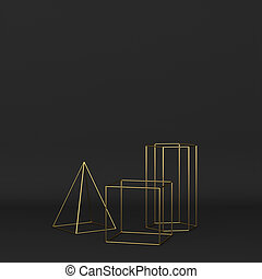 na podsłuchu, abstrakcyjny, geometryczny, komplet, primitives