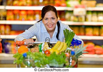 nabycia, warzywa, owoc, supermarket