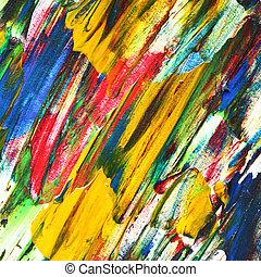 naftowe malarstwo, różnobarwny, struktura