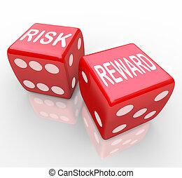 nagroda, -, ryzyko, słówko, jarzyna pokrajana w kostkę