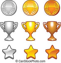 nagrody, komplet, sport