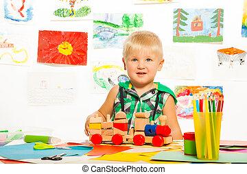 najlepszy, zabawki, przyjaciele, chłopcy, ołówki