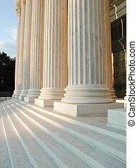najwyższy dziedziniec, d. c., kroki, waszyngton, kolumny