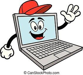 naprawa, komputer, maskotka