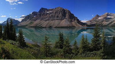 narodowy park, jezioro, banff, łuk