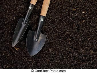 narzędzia, gleba