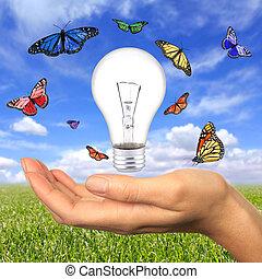 nasz, energia, wewnątrz, osiągać, odnawialny
