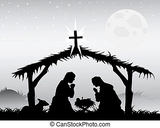 nativity scena, wektor