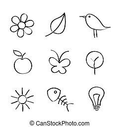 natura, ikony