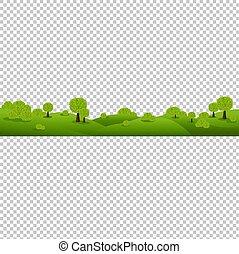 natura, odizolowany, zielone tło, przeźroczysty, krajobraz
