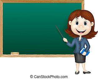 nauczyciel, samica, reputacja, rysunek, nex