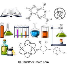 nauka, chemia, ikony