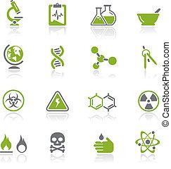 nauka, natura, /, ikony