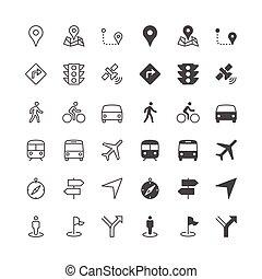 nawigacja, ikony