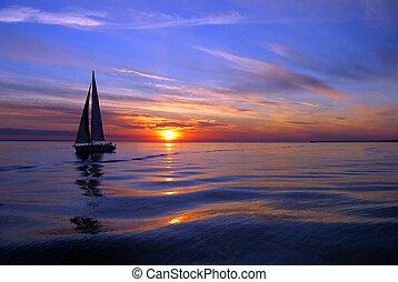 nawigacja, morze, kolor
