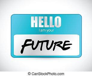 nazwijcie skuwkę, ilustracja, powitanie, przyszłość, im, twój
