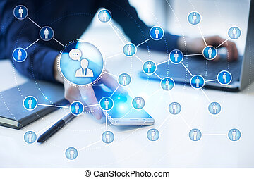 network., marketing., ludzie, media, towarzyski, smm., ikona