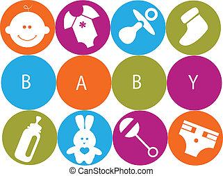 newborn niemowlę, przybory, karta