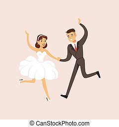 newlyweds, taniec, nowoczesny, scena, poślubna partia, pierwszy