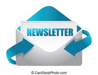newsletter, koperta, ilustracja