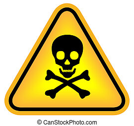 niebezpieczeństwo, czaszka, znak