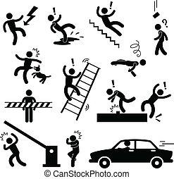 niebezpieczeństwo, ostrożność, wypadek, bezpieczeństwo, znak