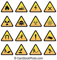 niebezpieczeństwo, ostrzeżenie sygnuje