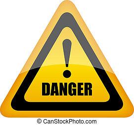 niebezpieczeństwo, wektor, znak
