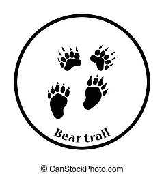 niedźwiedź, ikona, ślady