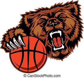 niedźwiedź, koszykówka