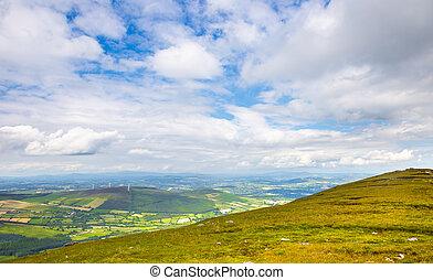 niejednolity, carlow, krajobraz, irlandia