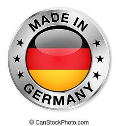 niemcy, robiony, odznaka, srebro
