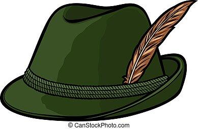 niemiec, kapelusz, polowanie