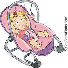 niemowlę, biegun, dziewczyna