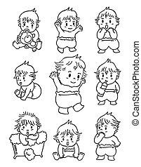 niemowlę, doodle