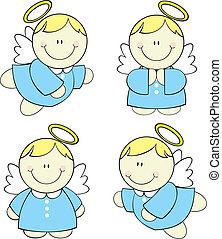 niemowlę, komplet, anioły