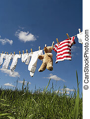 niemowlę odzież, clothesline