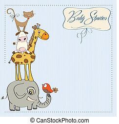 niemowlę przelotny deszcz, karta